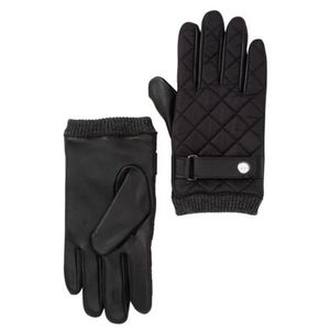 14th & Union Men's Quilted Leather Fleece Glove